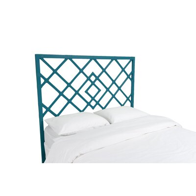 Darien Open Frame Headboard Finish: Pacific Blue, Size: King