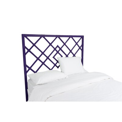 Darien Open Frame Headboard Finish: Perfect Purple, Size: Queen