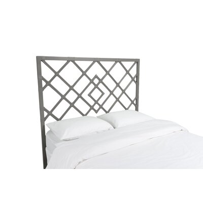 Darien Open Frame Headboard Color: Steel Gray, Size: King