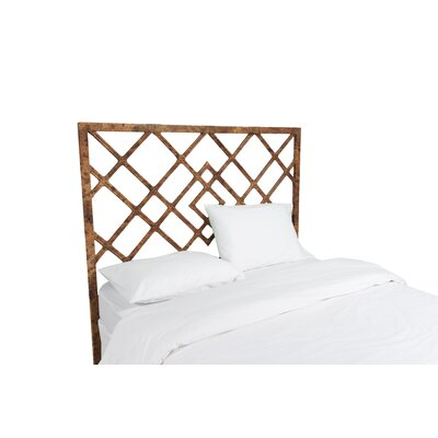 Darien Open Frame Headboard Color: Tortoise Shell, Size: Twin