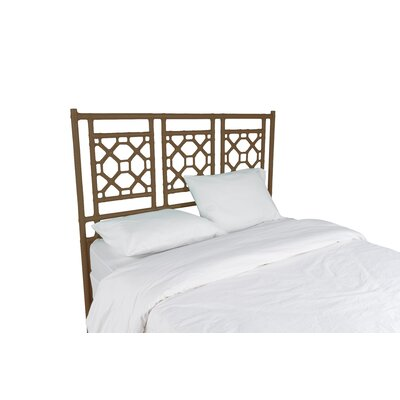 Lattice Open-Frame Headboard Size: Twin, Color: Coffee Brown