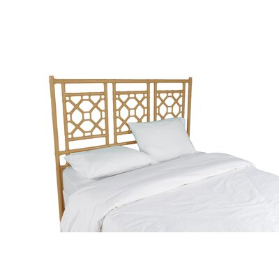 Lattice Open-Frame Headboard Size: Queen, Color: Camel Brown