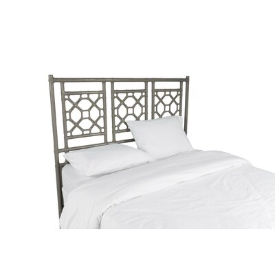 Lattice Open-Frame Headboard Size: Queen, Color: Steel Gray