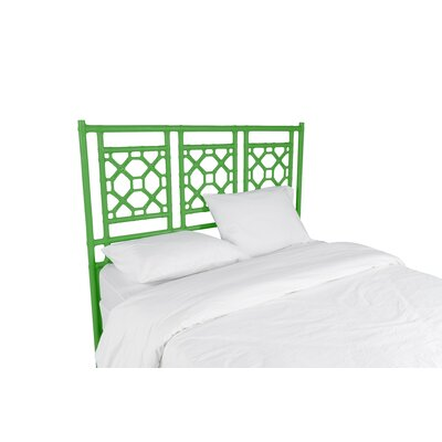 Lattice Open-Frame Headboard Size: King, Color: Green Apple