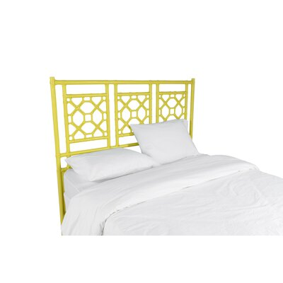 Lattice Open-Frame Headboard Size: Queen, Color: Canary Yellow
