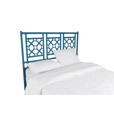 Lattice Open-Frame Headboard Size: Twin, Color: Surf Blue