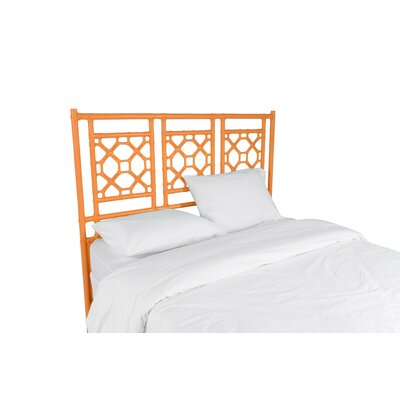 Lattice Open-Frame Headboard Size: Twin, Color: Orange Slice