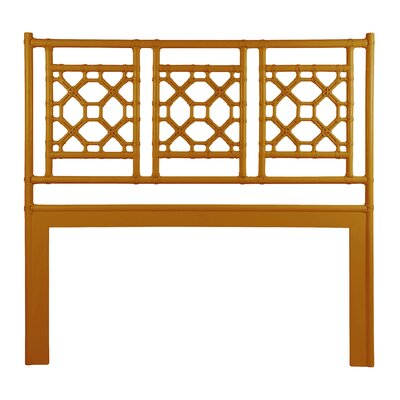 Lattice Open-Frame Headboard Size: Twin, Color: Dark Honey