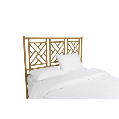 Chinese Chippendale Open-Frame Headboard Size: King, Color: Dark Honey