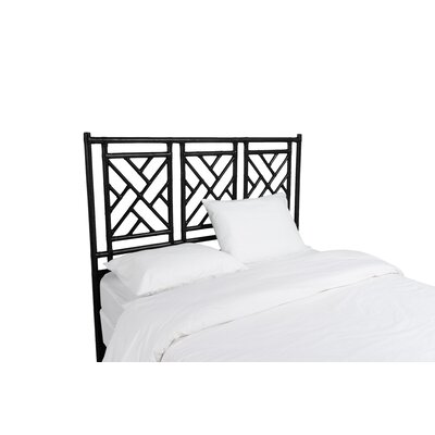 Chinese Chippendale Open-Frame Headboard Size: Twin, Color: Black