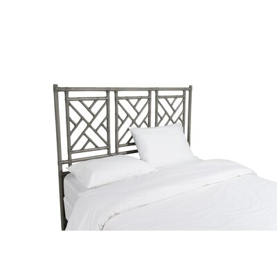 Chinese Chippendale Open-Frame Headboard Size: Twin, Color: Smoke