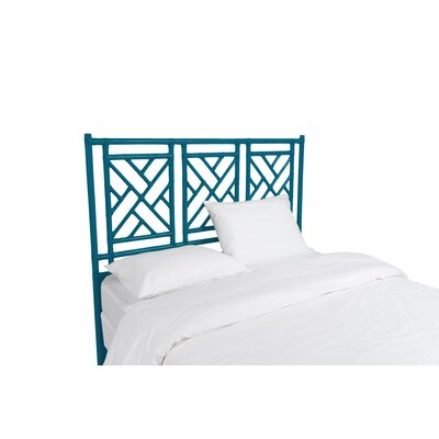 Chinese Chippendale Open-Frame Headboard Size: Twin, Color: Surf Blue
