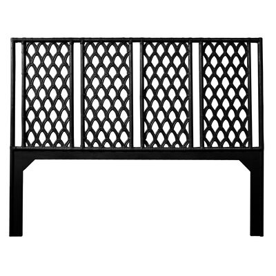 Casablanca Open-Frame Headboard Size: Queen, Color: Black
