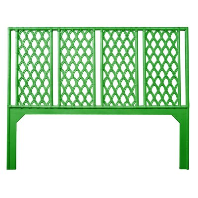 Casablanca Open-Frame Headboard Size: Queen, Color: Bright Green