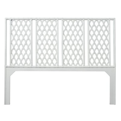 Casablanca Open-Frame Headboard Size: King, Color: Bright White
