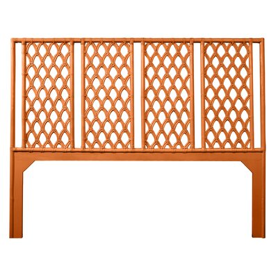 Casablanca King Open-Frame Headboard Color: Citrus Orange