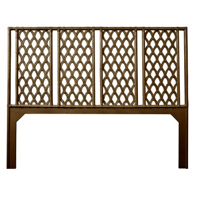 Casablanca Open-Frame Headboard Size: Queen, Color: Coffee Brown