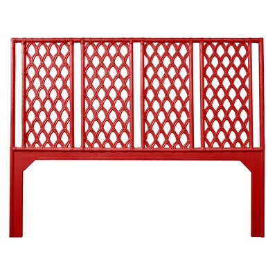 Casablanca Open-Frame Headboard Size: Queen, Color: Fire Red