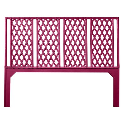 Casablanca Open-Frame Headboard Size: Queen, Color: Hot Pink
