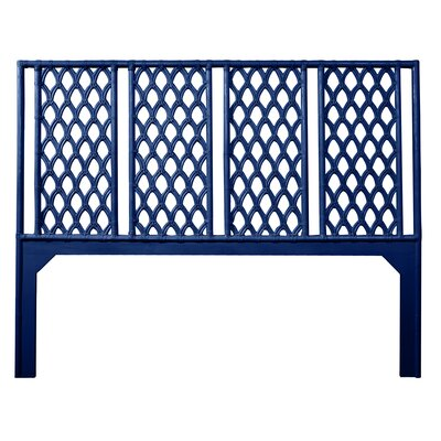 Casablanca Open-Frame Headboard Size: Queen, Color: Navy Blue