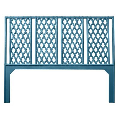 Casablanca Open-Frame Headboard Size: Queen, Color: Pacific Blue