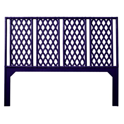 Casablanca Open-Frame Headboard Size: Queen, Color: Perfect Purple