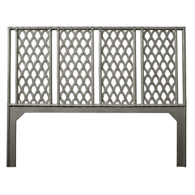 Casablanca Open-Frame Headboard Size: Twin, Color: Steel Gray