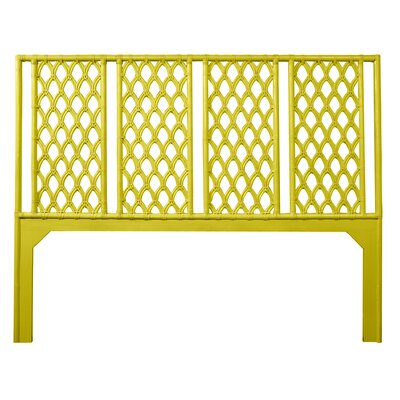 Casablanca Open-Frame Headboard Size: Queen, Color: Sunflower Yellow