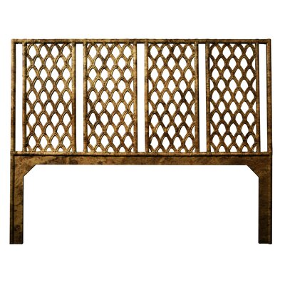 Casablanca Open-Frame Headboard Size: Twin, Color: Tortoise Shell