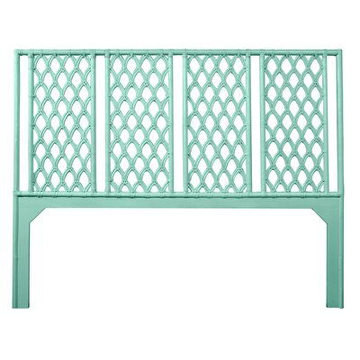 Casablanca Open-Frame Headboard Size: Twin, Color: Turquoise
