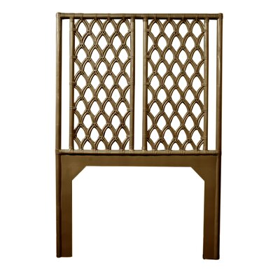 Casablanca Twin Open-Frame Headboard Color: Coffee Brown