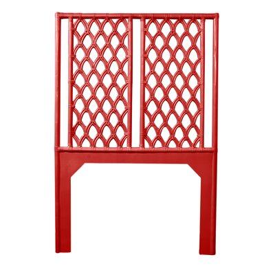 Casablanca Twin Open-Frame Headboard Color: Fire Red