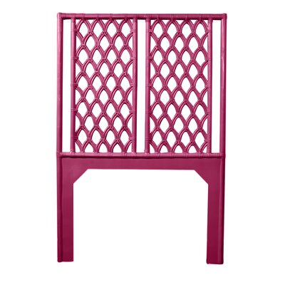 Casablanca Twin Open-Frame Headboard Color: Hot Pink