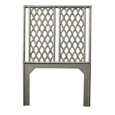 Casablanca Twin Open-Frame Headboard Color: Steel Gray