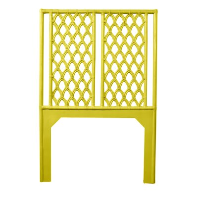 Casablanca Twin Open-Frame Headboard Color: Sunflower Yellow