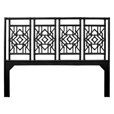 Tulum Open-Frame Headboard Size: Queen, Color: Black