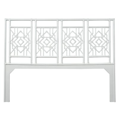 Tulum Open-Frame Headboard Size: Queen, Color: Bright White