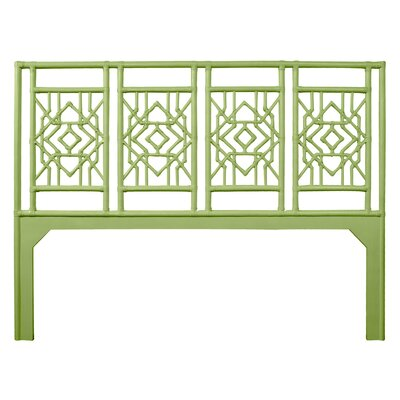 Tulum Open-Frame Headboard Size: King, Color: Celery Green