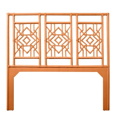 Tulum Open-Frame Headboard Size: Twin, Color: Citrus Orange