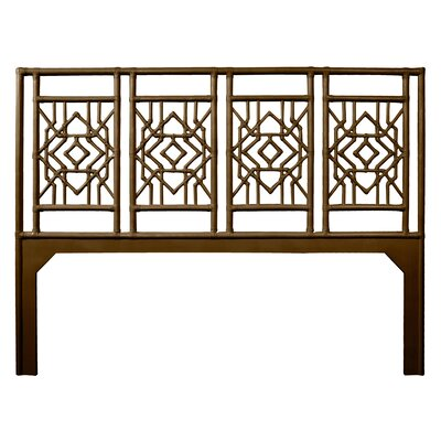 Tulum Open-Frame Headboard Size: Twin, Color: Coffee Brown
