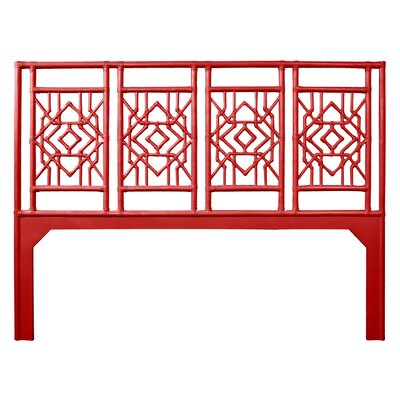 Tulum Open-Frame Headboard Size: Queen, Color: Fire Red