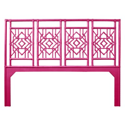 Tulum Open-Frame Headboard Size: King, Color: Hot Pink