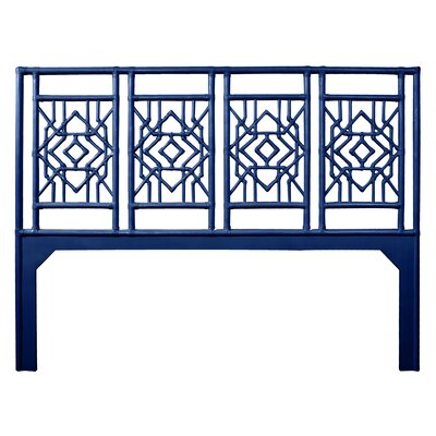 Tulum Open-Frame Headboard Size: King, Color: Navy Blue