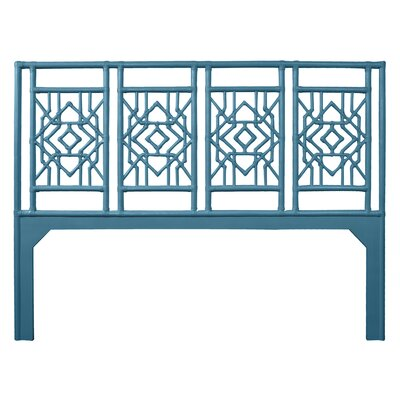 Tulum Open-Frame Headboard Size: King, Color: Pacific Blue