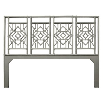Tulum Open-Frame Headboard Size: King, Color: Steel Gray