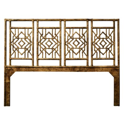 Tulum Open-Frame Headboard Size: Twin, Color: Tortoise Shell