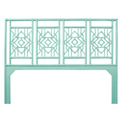 Tulum Open-Frame Headboard Size: Queen, Color: Turquoise