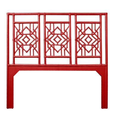 Tulum Queen Open-Frame Headboard Color: Fire Red