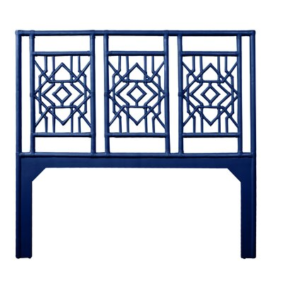 Tulum Queen Open-Frame Headboard Color: Navy Blue