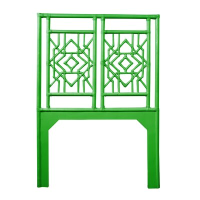 Tulum Twin Open-Frame Headboard Color: Bright Green
